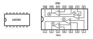 图2-1-4(b)LM339管脚图
