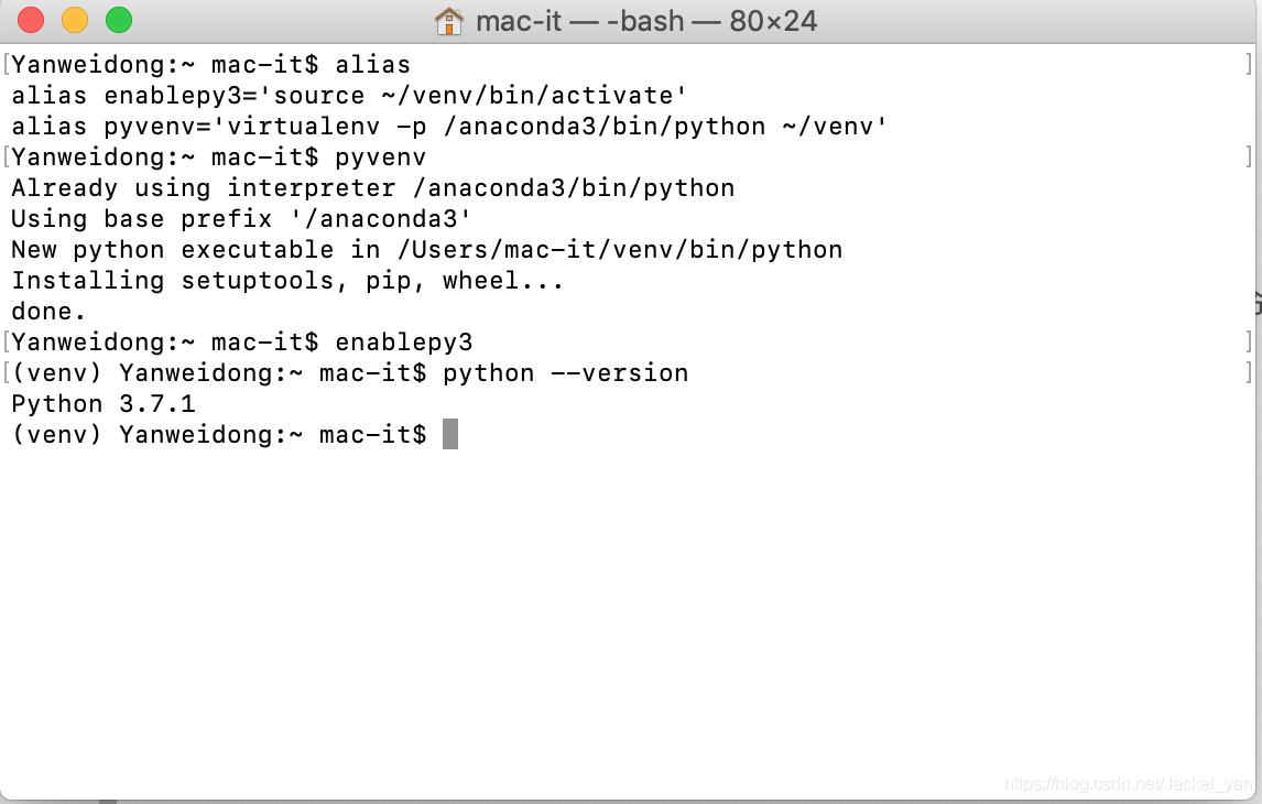 Mac OS中配置Python3 - Jackel_yan的博客- CSDN博客
