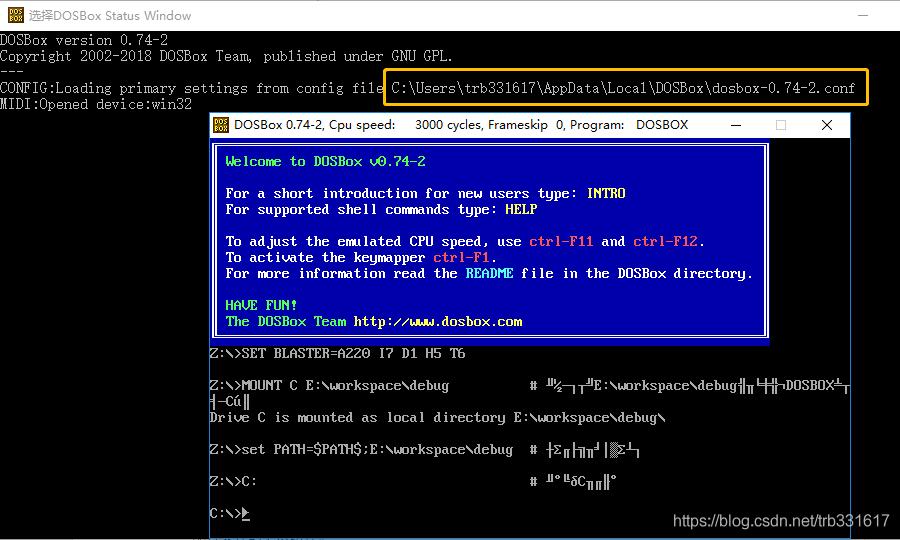 win10安装配置debug exe和DOSBox - trb331617的博客- CSDN博客