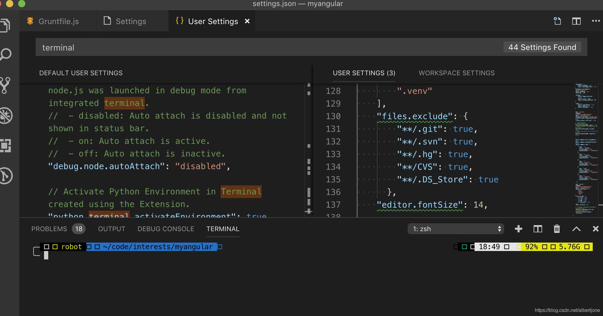 解决Vscode Terminal 中无法正常显示powerdevel9主题样式的问题