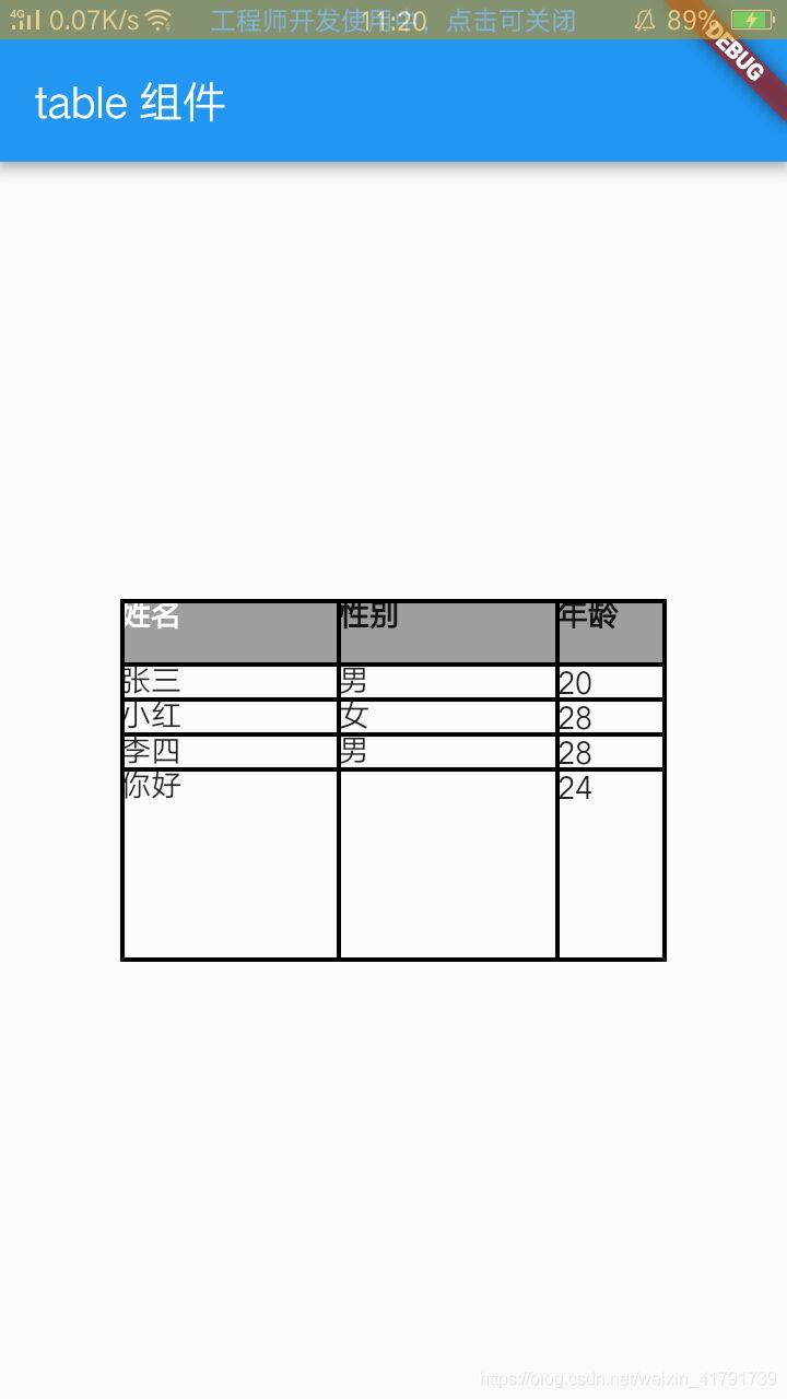 Flutter组件-Table-表格组件- weixin_41791739的博客- CSDN博客
