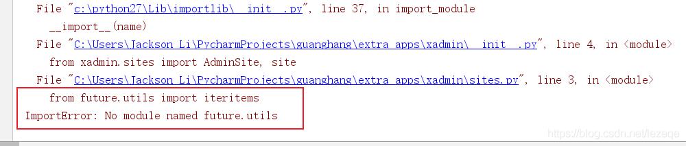 """两种解决方法:"""" from future utils import iteritems"""