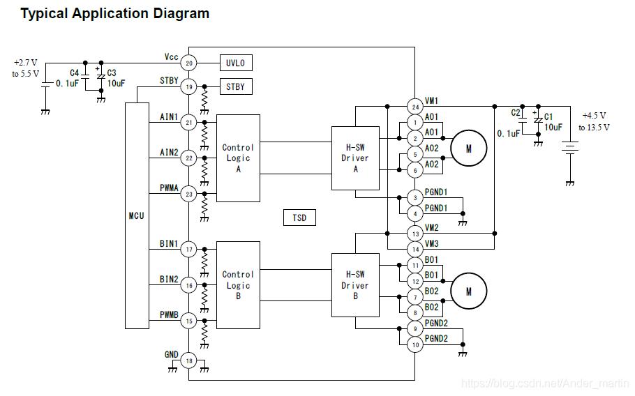 TB6612应用电路