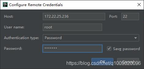 填入远程服务器信息