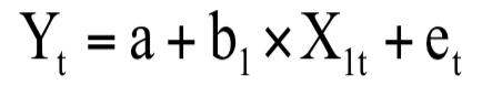 Y=a+b×X +e