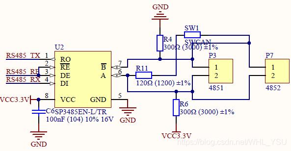 实验用485通信电路