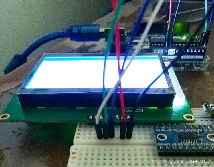 ARDUINO与RSCG12864B01液晶屏的接线