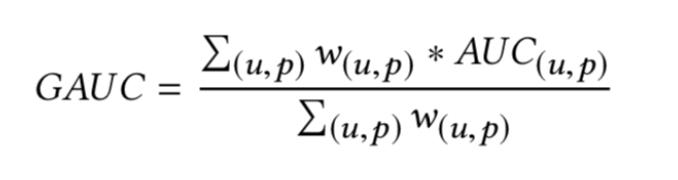 gauc计算公式