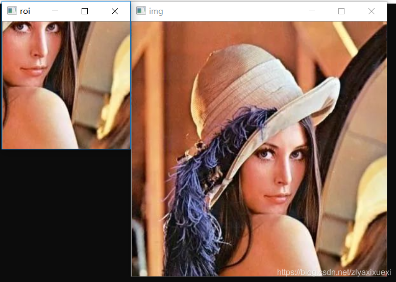 运行效果图:左图为提取的效果图,右图为原图