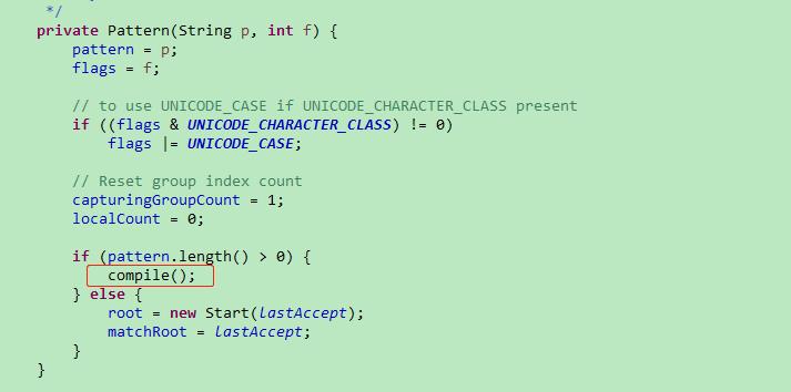 Pattern的构造函数