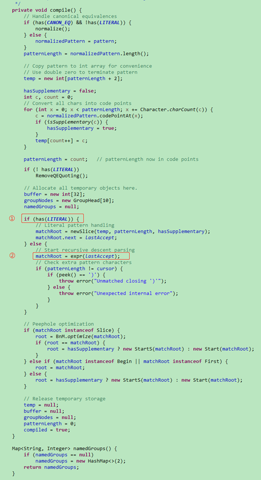 Pattern.compile()函数