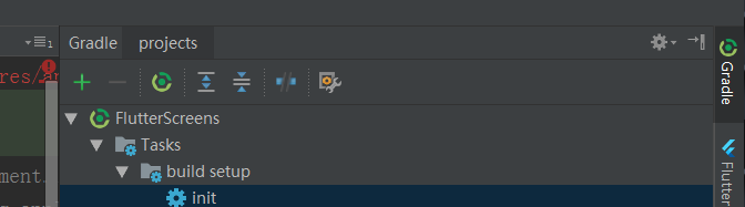 github下载的flutter项目导入as中只有配置文件没有项目结构