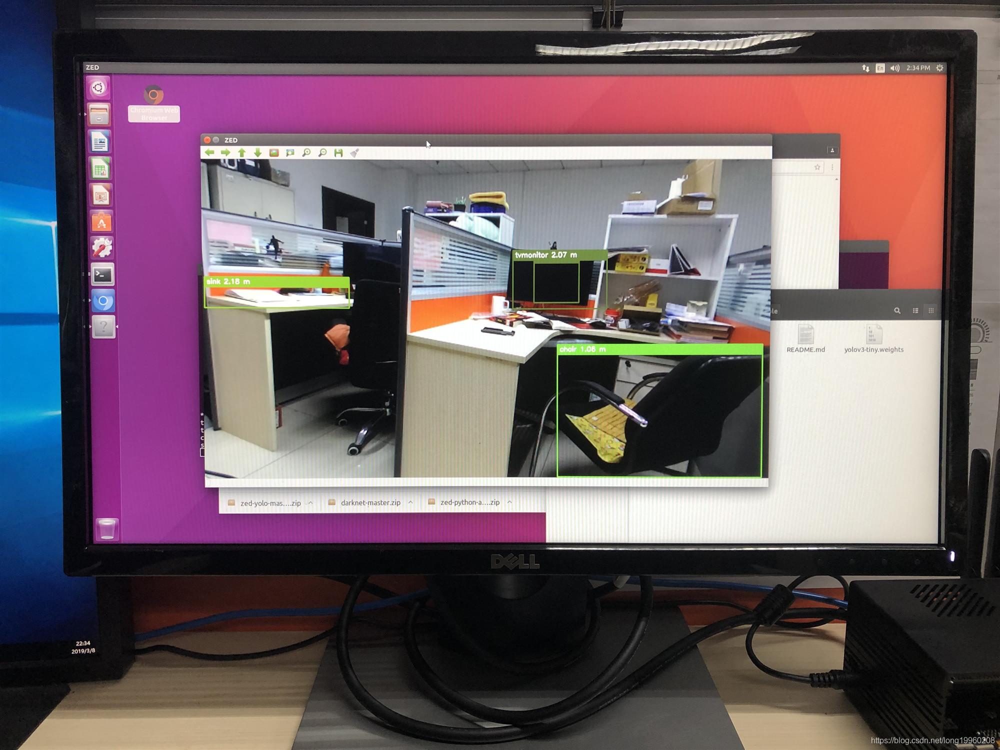 Jetson TX2利用python3语言在ZED相机上运行yolov3