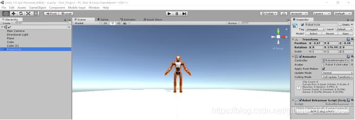 增加一个Animator组件