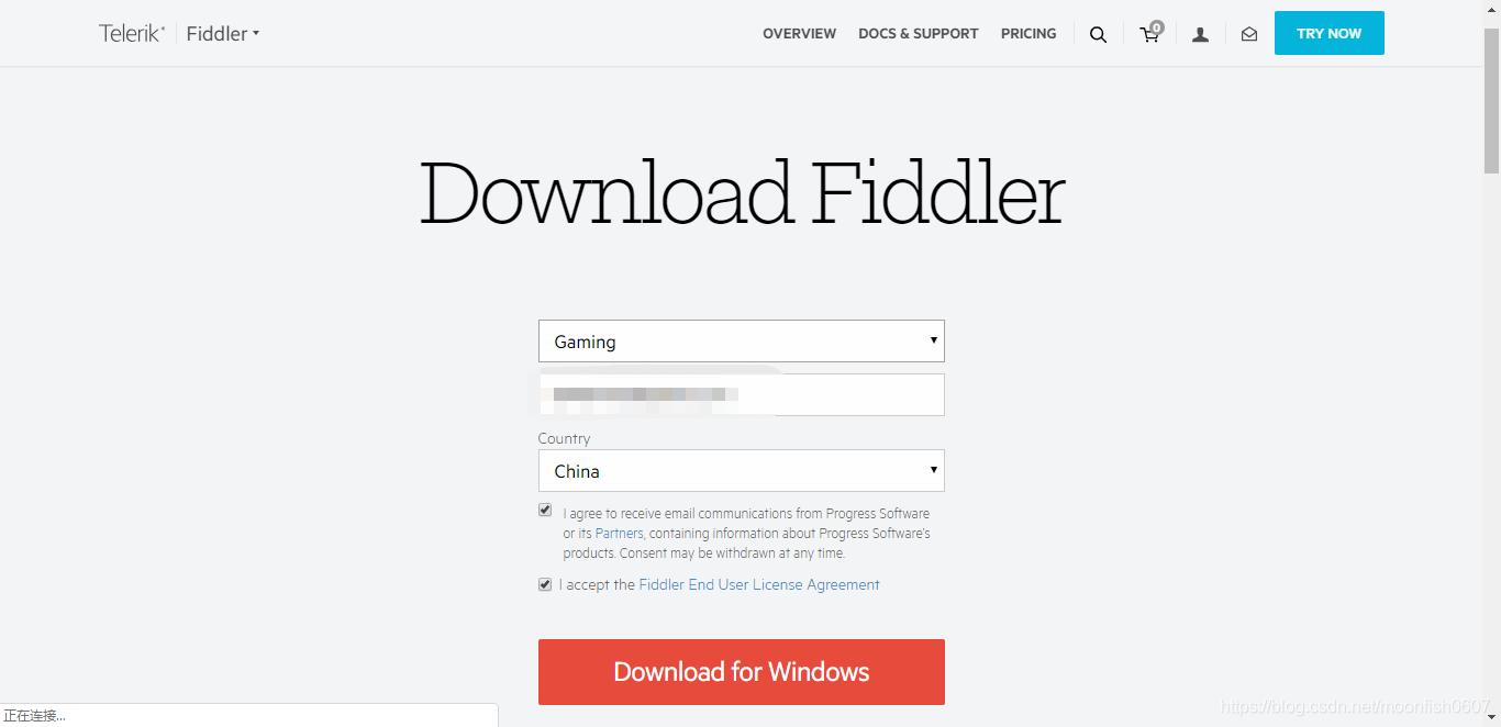 Fiddler下载界面
