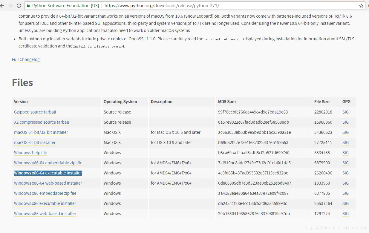 选择了 Windows x86-64 executable installer.png