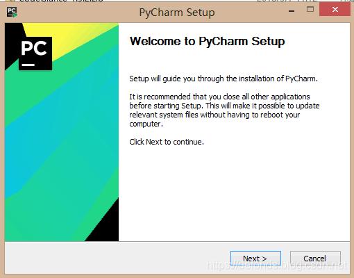 安装过程里的 Welcome to PyCharm Setup 页面.png
