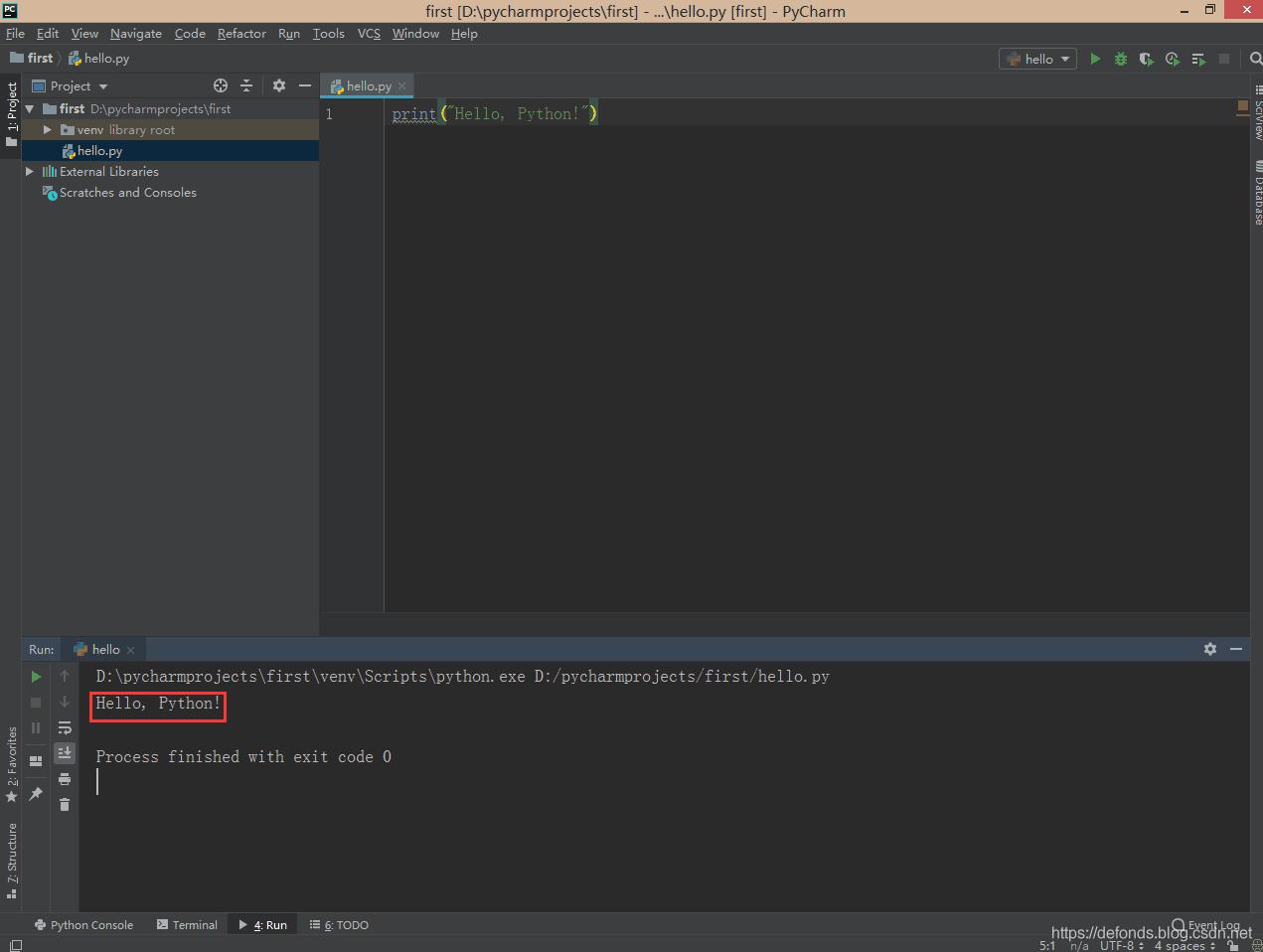 你的第一个 Python 程序跑起来了.png