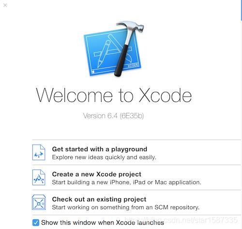 在这里XcodeStart插入图片描述