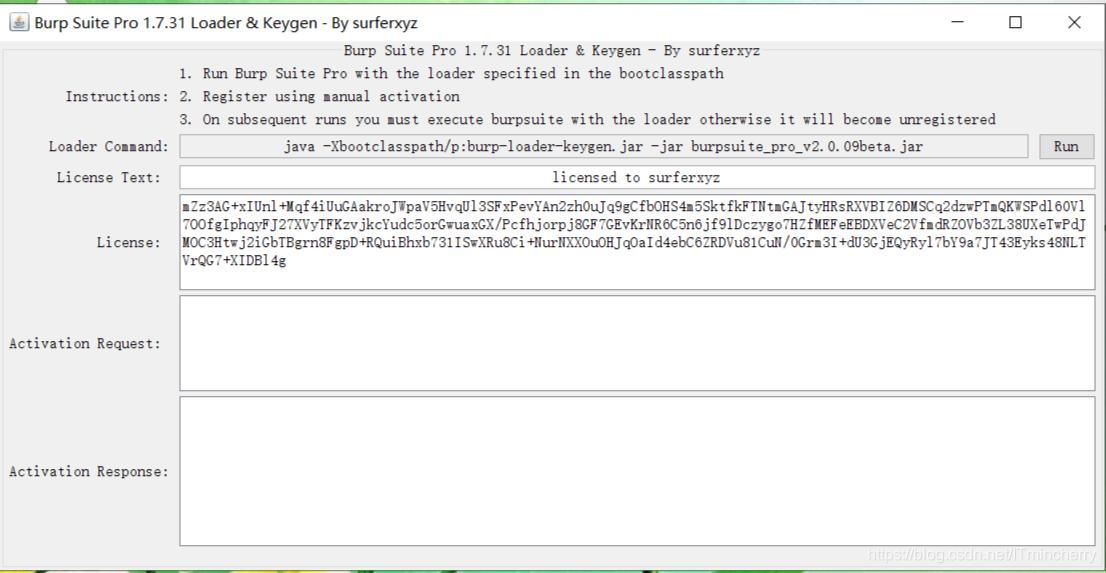 安装burpsuite要liscence key的解决办法- ITmincherry的博客- CSDN博客