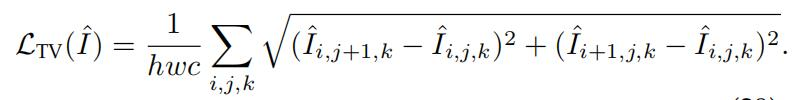 total variation loss 表达式