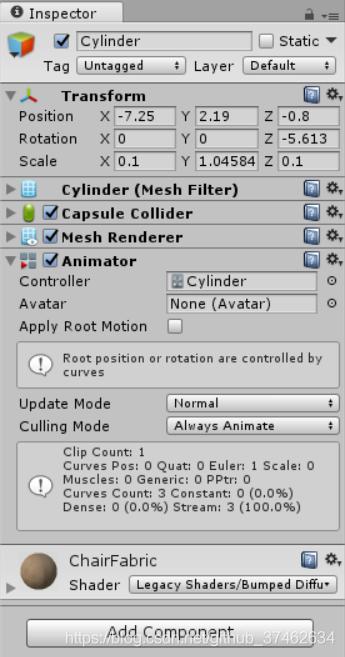 添加Animator组件