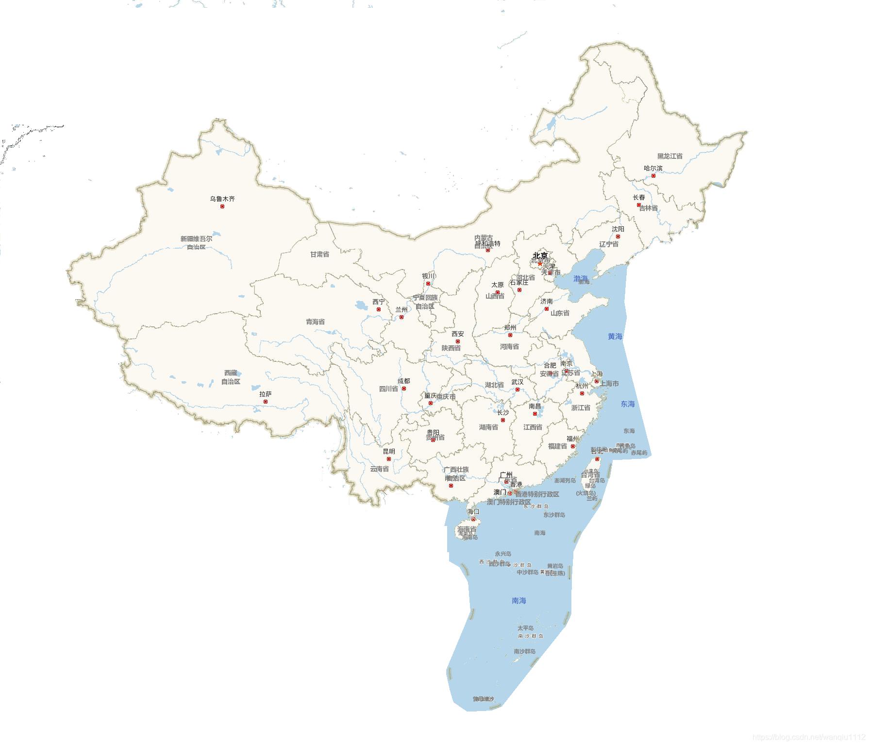 全国行政区划省级地图
