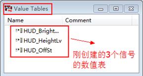 """图2.3 完成数值表创建后的""""Value Tables""""界面"""