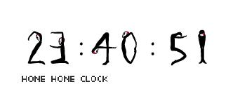 一款人形艺术时钟动作显示的flash时间表