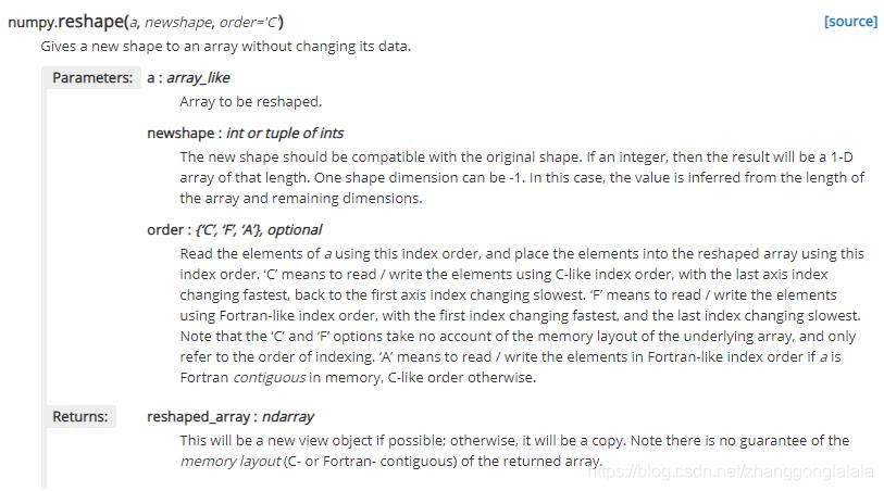 numpy中reshape方法详解- zhanggonglalala的博客- CSDN博客