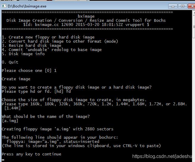 bochs模拟器创建映像文件、写入文件并启动- jadeshu的博客- CSDN博客