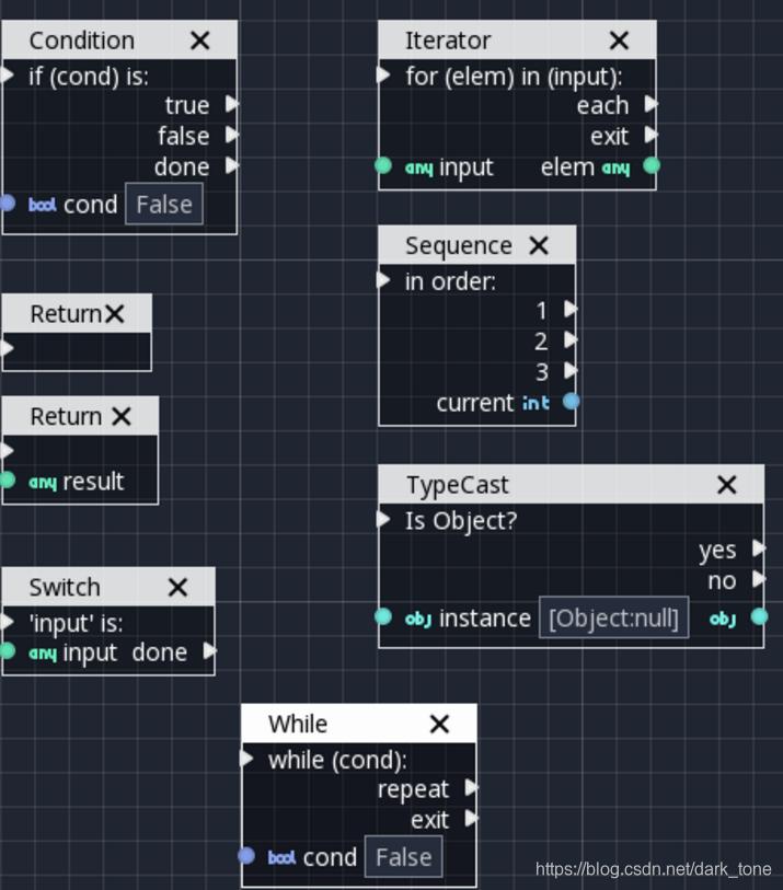 godot游戏引擎自学入门笔记--可视化脚本续,官方文档翻译(十一