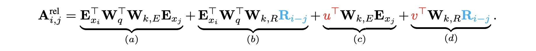 Transformer-XL的attention计算公式分解