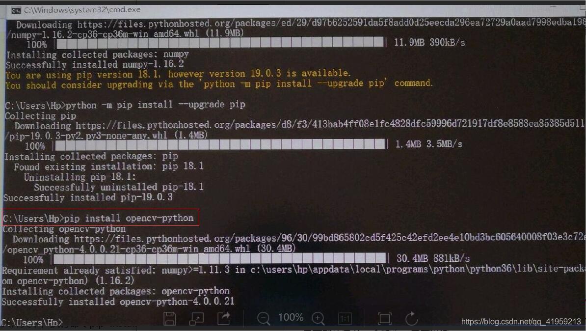 windows下,python+numpy+opencv+pycharm - qq_41959213的博客