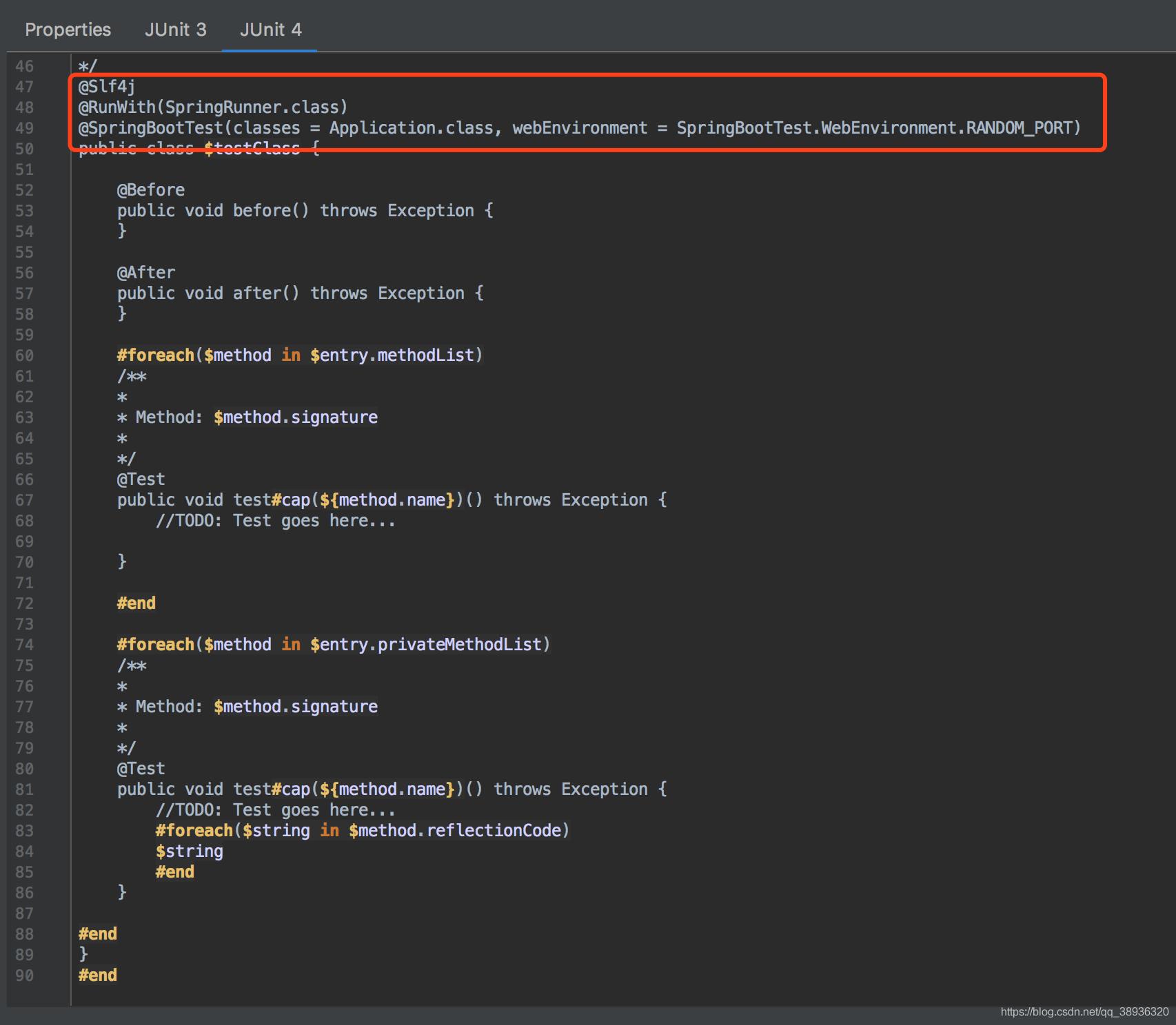 SpringBoot测试用例模板