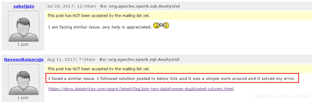 spark】异常:org apache spark sql AnalysisException
