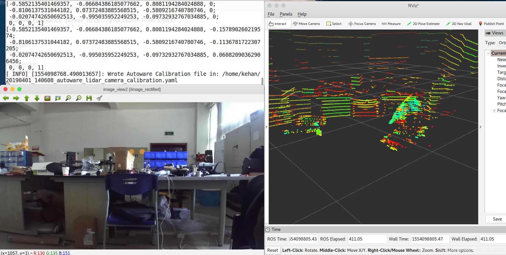 使用Autoware进行(双目)相机与激光雷达的联合标定- 一步一脚印- CSDN博客
