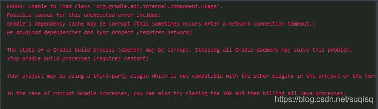 Unable to load class 'org gradle api internal component