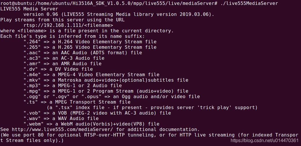 hi3516a——ubuntu下搭建live555 RTSP Server - 夜风的博客- CSDN博客