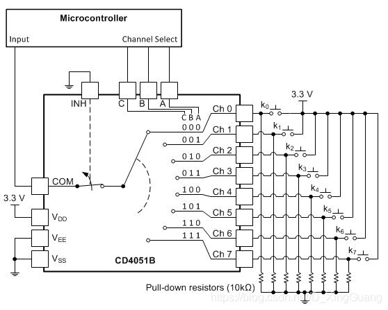 CD4051应用原理图