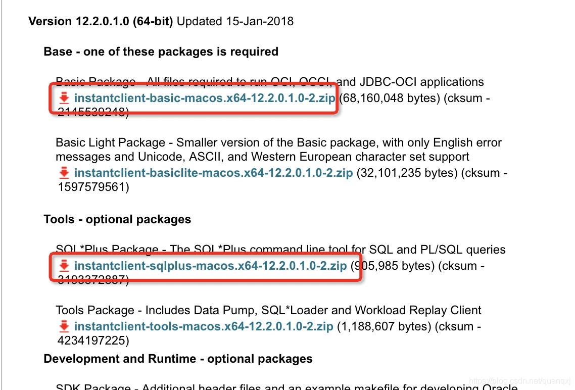 python cx_oracle在Mac中的安装及使用- quanqxj的博客- CSDN博客