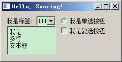 单选按钮和复选按钮
