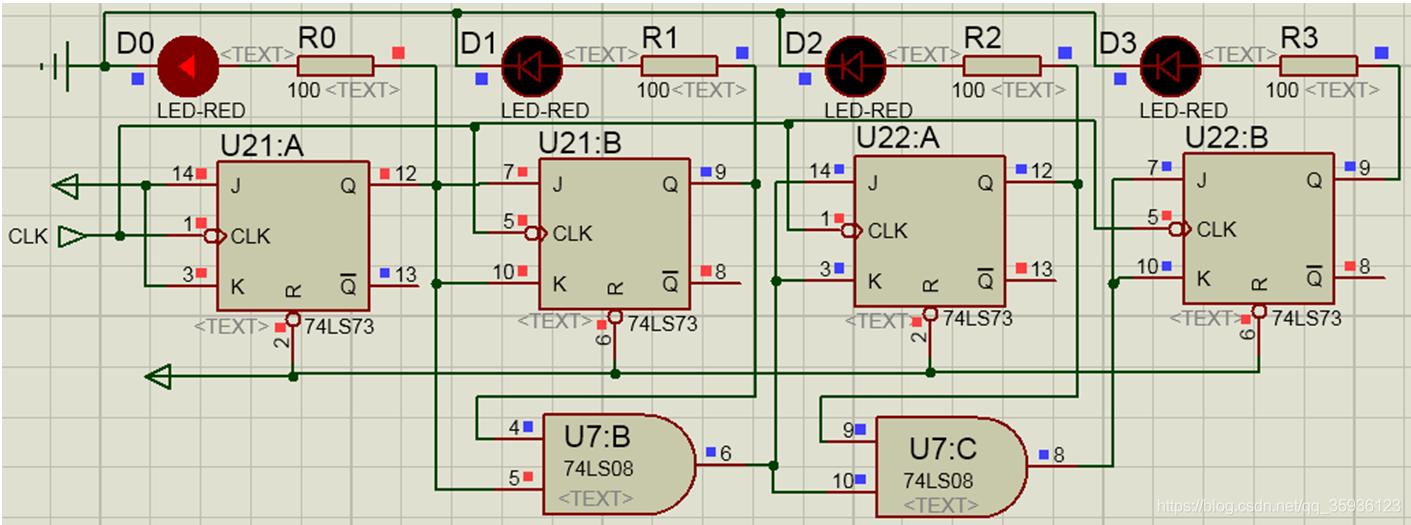 同步计数器的时序逻辑电路