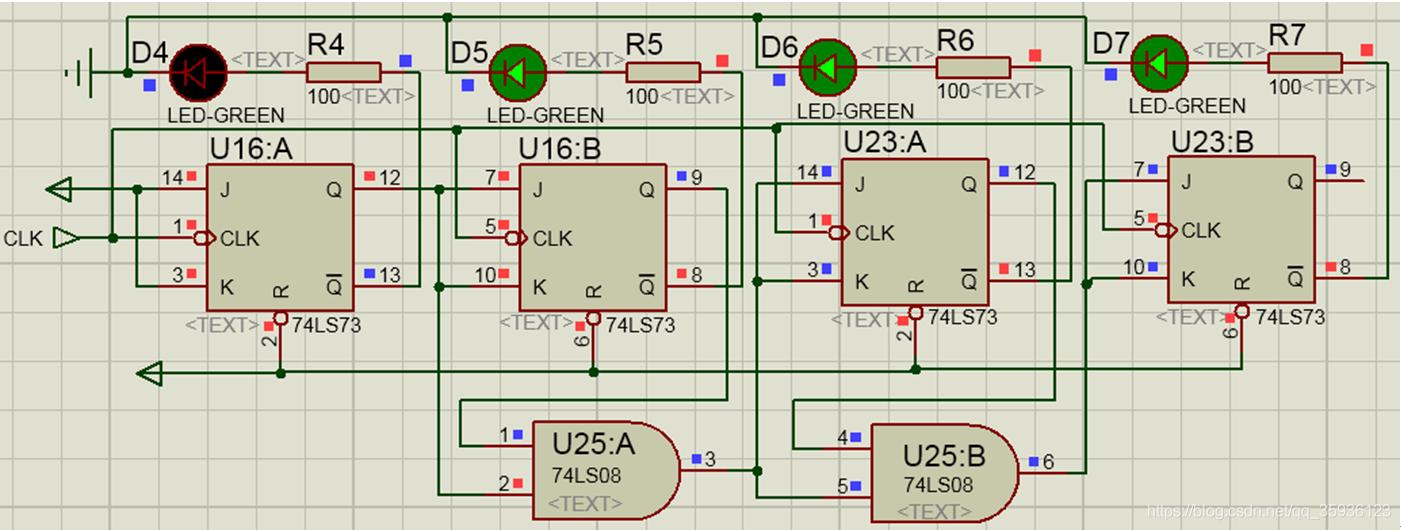 同步减法计数器的时序逻辑电路