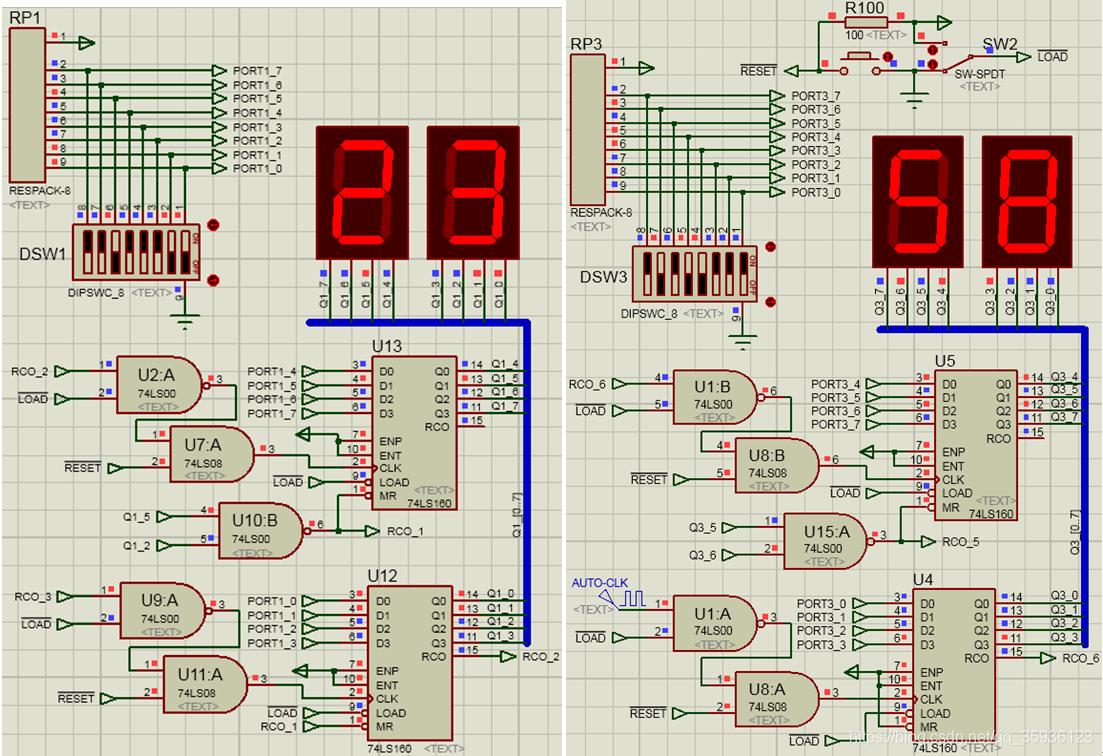 时钟和秒钟计时单元电路图