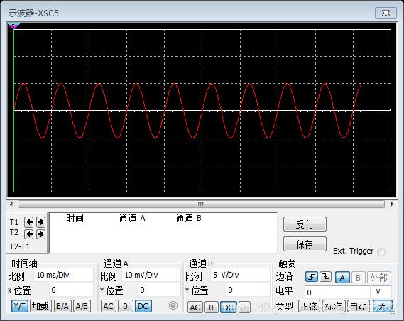 差分放大电路仿真输入信号波形