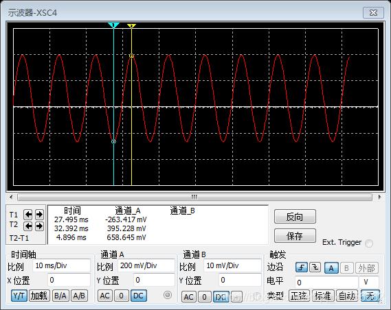 差分放大电路仿真输出信号波形