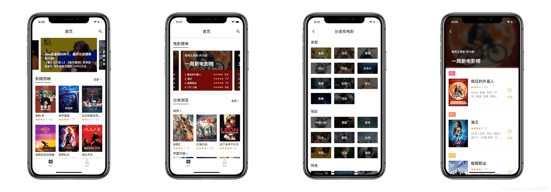 Flutter 电影app 应用,兼容Android 和iOS,使用豆瓣开放Api