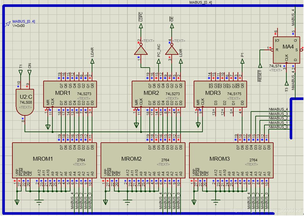 微程序控制器的存储器电路