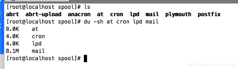 Linux看文件大小的命令